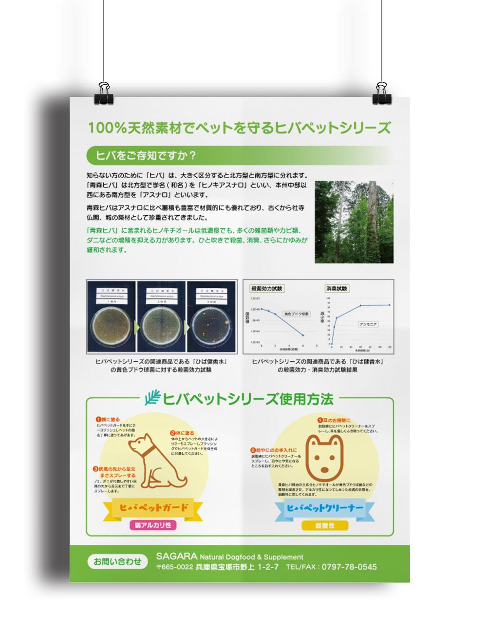 「厳選ドックフード専門店SAGARA」商品フライヤーデザイン(裏)